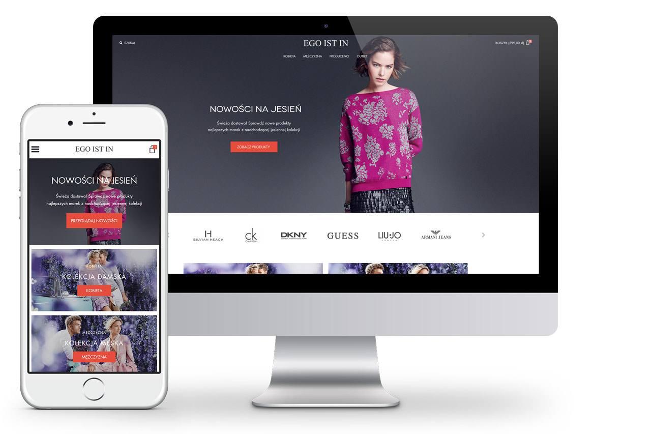 Atrakcyjny i nowoczesny projekt sklepu internetowego